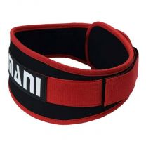 Mani Sports 5inch Synthetic Weight Training Belt Red and Black