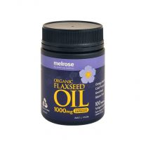 Melrose - Organic Flaxseed Oil - 100 Capsules