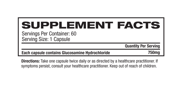 Melrose - Plant Sourced Glucosamine Capsules supplement facts