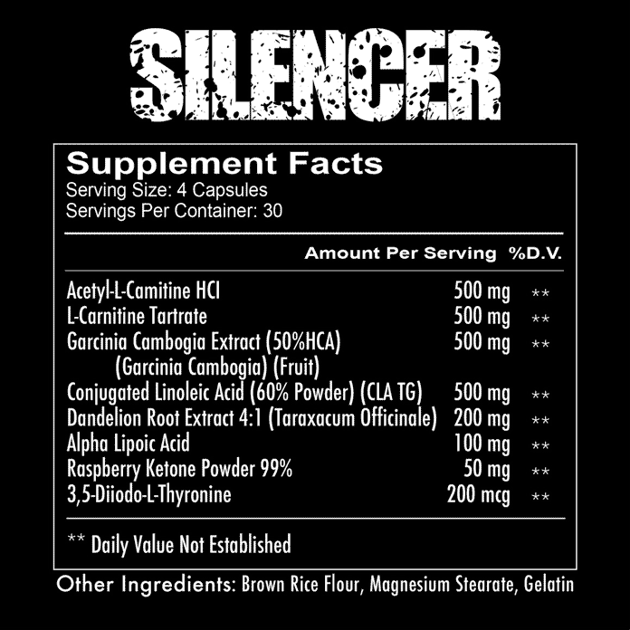 supplements facts about REDCON1 - Silencer