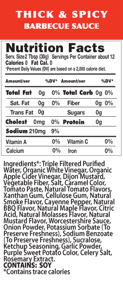 Spicy BBQ Nutrition Facts